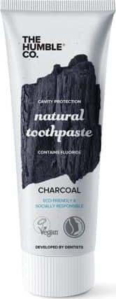 The Humble Natural toothpaste Charcoal Φυσική Οδοντόκρεμα Με Ενεργό Άνθρακα Για Λεύκανση 75ml