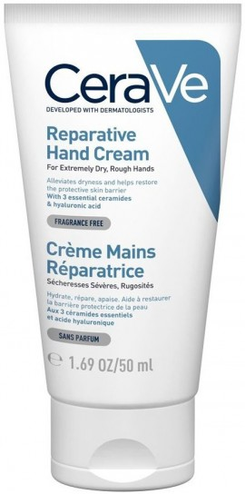 CERAVE Reparative Hand Cream Ενυδατική Κρέμα χεριών για Πολύ Σκασμένο Δέρμα, 50ml