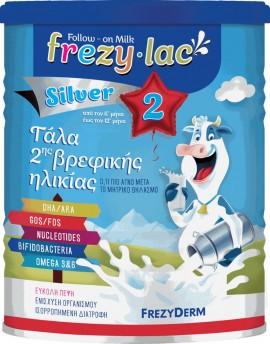 FREZYDERM Frezylac Follow-on Milk Silver 2, Αγελαδινό Γάλα 2ης Βρεφικής Ηλικίας από τον 6ο έως τον 12ο μήνα, 400g