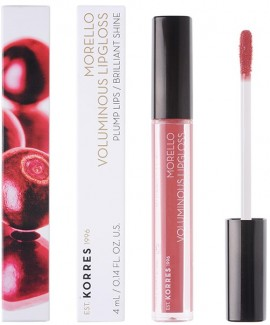 KORRES Morello Voluminous Lip Gloss NO16 Blushed Pink Γεμάτα Xείλη & Λαμπερό Αποτέλεσμα, 4ml