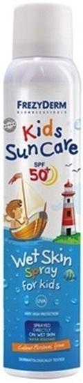 FREZYDERM Kids Sun Care SPF50 Wet Skin Spray, Παιδικό Αντηλιακό spray που ψεκάζεται απευθείας σε βρεγμένο δέρμα, 200ml