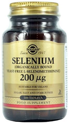 SOLGAR Selenium 200μg, 100Tabs