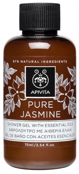 Apivita Pure Jasmine Mini Αφρόλουτρο με Γιασεμί, 75ml