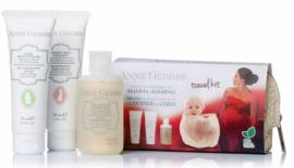 Anne Geddes Travel Kit For Mother And Child BIO Κρέμα αλλαγής πάνας, 50ml & Ενυδατική & Αναπλαστική κρέμα σώματος, 50ml & Παιδικό Αφρόλουτρο, 75ml