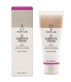 YOUTH LAB CC Complete Cream Spf 30 Normal-Dry Skin Καλυπτική Κρέμα με σύνθεση ολικής αναδόμησης με αντιηλιακή προστασία για το κανονικό-ξηρό δέρμα, 50 …