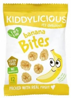 KIDDYLICIOUS Banana Bites Πατατάκια Μπανάνα, κατάλληλα από τον 12ο Μήνα, 15gr