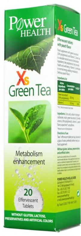 POWER HEALTH XS Green Tea για την Αύξηση του Μεταβολισμού, 20 Αναβρ.Δισκία