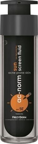 FREZYDERM Ac-Norm Sun Screen Fluid SPF 50+, Aντηλιακή Προσώπου για Ακνεϊκά Δέρματα, 50ml