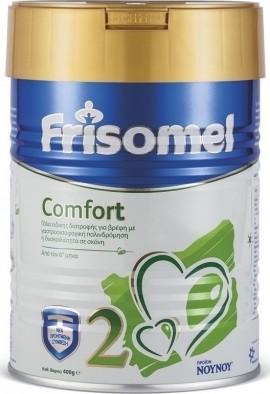 FRISOMEL 2 Comfort Γάλα ειδικής διατροφής για βρέφη με γαστροοισοφαγική παλινδρόμηση ή δυσκοιλιότητα από τον έκτο μήνα 400gr