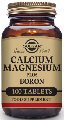 SOLGAR Calcium Magnesium + Boron, 100Tabs