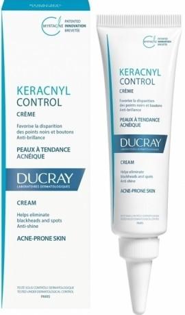 DUCRAY,  Keracnyl Control Crème, Κρέμα για μαύρα στίγματα και σπυράκια  σε δέρμα με τάση ακμής, 30ml