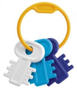 CHICCO Χρωματιστά Κλειδιά Σιελ Ηλικίας 3 - 18 μηνών Ιδανικά για Μασητικό 1τμχ code 63216-20