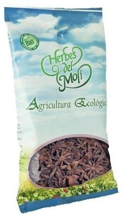 HERBES DEL MOLI Γλυκάνισος (αστέρι) 60gr που βοηθάει στους κολικούς του εντέρου, στους σπασμούς, στον πόνο της κοιλιάς και στην αεροφαγία