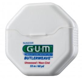 GUM Butlerweave Floss - Unwaxed 1055 Ακέρωτο Οδοντικό Νήμα 55m