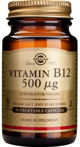 SOLGAR B12 500MCG VEGETABLE 50CAP
