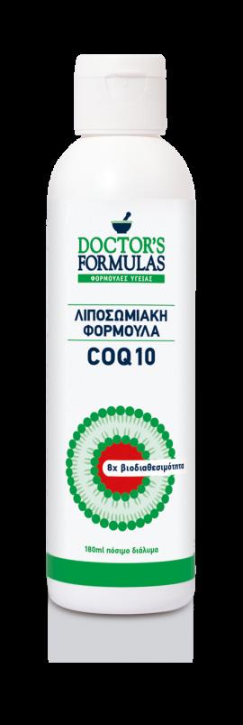 DOCTORS FORMULAS Συμπλήρωμα Διατροφής CO Q10 100mg, Λιποσωμιακή Φόρμουλα, 180ml πόσιμο διάλυμα
