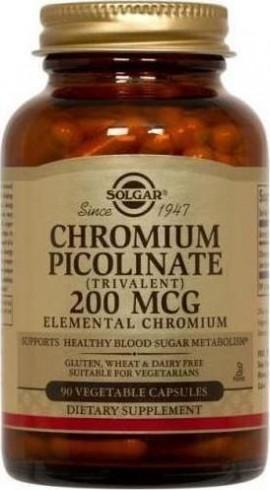 SOLGAR Chromium Picolinate 200mg, 90Veg.Caps