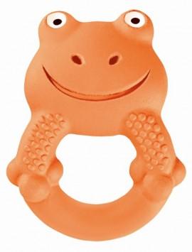 MAM Max, το βατραχάκι Τα Φιλαράκια Χειροποίητα Μασητικά Παιχνίδια από Φυσικό Latex για μωρά 4+ μηνών code 592 Orange