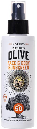 KORRES Pure Greek Olive Αντηλιακό Γαλάκτωμα Προσώπου-Σώματος SPF50, 150ml