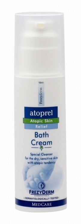 FREZYDERM Atoprel Bath Cream, Kρεμώδες Καθαριστικό για ξηρό με ατοπική διάθεση δέρμα, 150ml