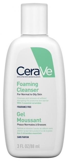 CERAVE Foaming Cleanser Καθαρίζει και Απομακρύνει τη Λιπαρότητα από Πρόσωπο και Σώμα Χωρίς να Διαταράσσει τον Επιδερμιδικό Φραγμό, 88ml