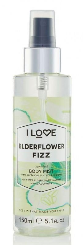I LOVE Cosmetics Elderflower Fizz Body Mist Spray άρωμα σώματος με αρώματα άνθους κουφοξυλιάς και Φρούτων για όλες τις ώρες 150ml ( 1 τεμάχιο)
