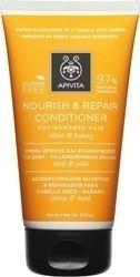 APIVITA Κρέμα Θρέψης & Επανόρθωσης για Ξηρά Μαλλιά - Ταλαιπωρημένα Μαλλιά με Ελιά & Μέλι, 150ml