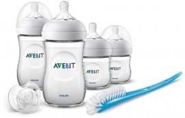 AVENT PHILIPS Natural Αρχικό σετ για νεογέννητα περιλαμβάνει (2 μπιμπερό 125 ml & 2 μπιμπερό 260 ml, 1 πιπιλά, 1 βούρτσα καθαρισμού) code SCD301/01