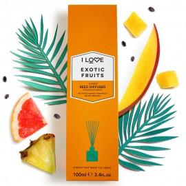 I LOVE Cosmetics Exotic Fruit Reed Diffuser Αρωματικά Sticks Χώρου με αρώματα Εξωτικών Φρούτων για Απόλυτη Αίσθηση Χαλάρωσης 100ml ( 1 τεμάχιο)