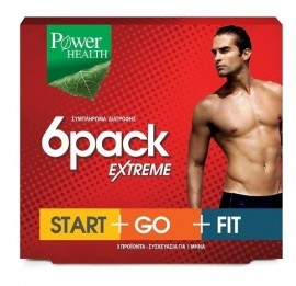 POWER HEALTH 6Pack Extreme (Start+Go+Fit) για το Αδυνάτισμα, 3x30Caps