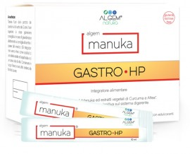 ALGEM Manuka Gastro Hp Συμπλήρωμα διατροφής με μέλι Manuka και κουρκουμά για πάση φύσεως γαστρίτιδα και πόνο στο στομάχι. (15 stick x10ml)