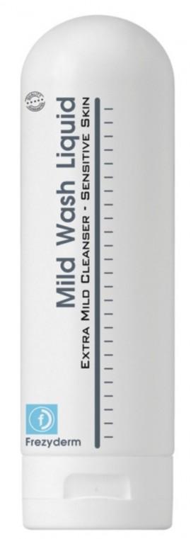 FREZYDERM Mild Wash Liquid, Απαλό υγρό καθαρισμού για κανονικές και ευαίσθητες επιδερμίδες, 200ml