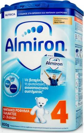 Almiron 4 της NUTRICIA Το κατάλληλο ρόφημα γάλακτος για νήπια 2-3 ετών, EaZypack των 800 gr