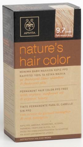 APIVITA Natures Hair Color N9.7 Ξανθό Πολύ Ανοιχτό Μπεζ, 125ml