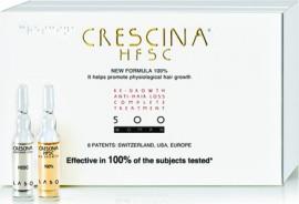 CRESCINA HFSC100% COMPLETE TREATMENT 500 WOMAN, Για γυναίκες (10+10 φιαλίδια ), Πλήρης θεραπεία κατά της τριχόπτωσης και ταυτόχρονα ανάπτυξη μαλλιών
