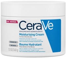 CERAVE Moisturising Cream Ενυδατική Κρέμα για Πρόσωπο/Σώμα για Ξηρό/Πολύ Ξηρό Δέρμα Χωρίς Άρωμα, 340ml