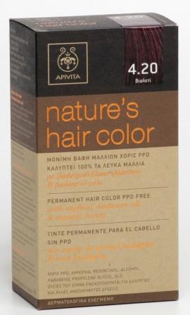 APIVITA Natures Hair Color N4.20 Βιολετί, 125ml
