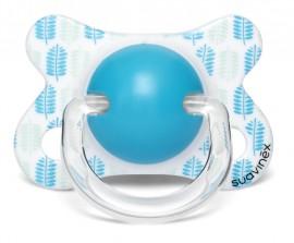 SUAVINEX FUSION Πιπίλα Ανατομική Θηλή Latex LEAVES Blue 2-4M code 10 304843