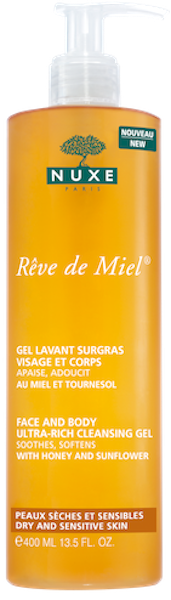 NUXE Reve De Miel Gel Douche, Αφρόλουτρο Καθαρισμού Προσώπου & Σώματος, Χωρίς Σαπούνι, 400ml