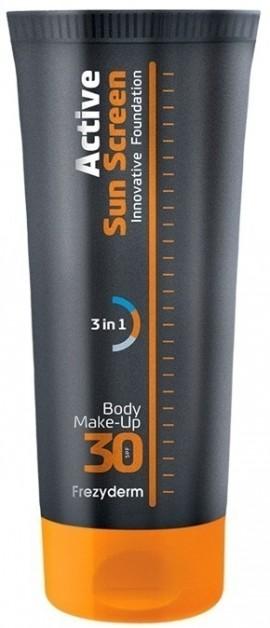 FREZYDERM Active Sun Screen Innovative Body Foundation Cream, Αντηλιακό Μέικ-Απ Σώματος με SPF30, 75ml