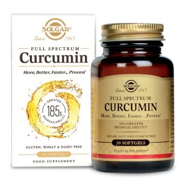 SOLGAR Full Spectrum Curcumin Συμπλήρωμα Διατροφής με Κουρκουμά, 30 Softgels