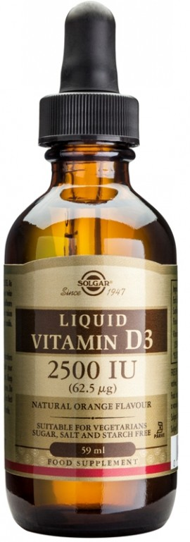 SOLGAR VITAMIN D3 2500 IU LIQUID 59ML