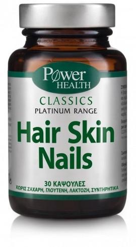 POWER HEALTH Classics Platinum - Hairtone Skin Nails Συμπλήρωμα Διατροφής για τα Μαλλιά, το Δέρμα και τα Νύχια, 30Caps