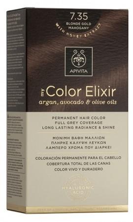 APIVITA My Color Elixir N7.35 Ξανθό Μελί Μαονί, 125ml