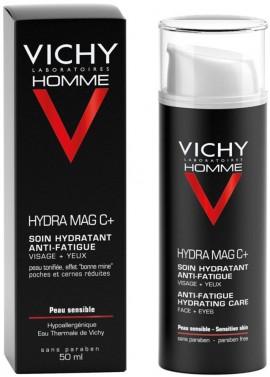 VICHY Homme Hydra Mag C+ Ανδρική Κρέμα Ενυδάτωσης και Αναζωογόνησης για Πρόσωπο & Μάτια, 50ml