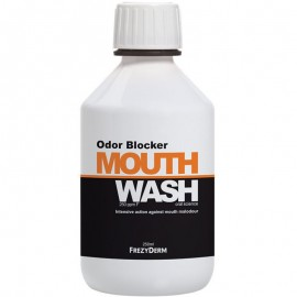 FREZYDERM Odor Blocker Mouthwash, Στοματικό Διάλυμα Κατά της Στοματικής Κακοσμίας & της Δυσάρεστης Αναπνοής, 250ml