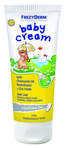 FREZYDERM Baby Cream, Προστατευτική, Αδιάβροχη Κρέμα που προστατεύει και ανακουφίζει από ερεθισμούς, 175ml