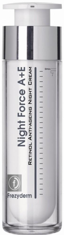 FREZYDERM Night Force A+E Cream, Αντιγηραντική Κρέμα Νύχτας, 50ml