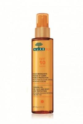NUXE Sun Tanning Oil For Face & Body Low Protection SPF10, Αντιηλιακό Λάδι Μαυρίσματος για Πρόσωπο και Σώμα, 100ml