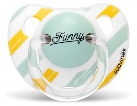 SUAVINEX Ανατομική Πιπίλα Σιλικόνης  AS YOU 0-6 M Χρώμα Κίτρινο